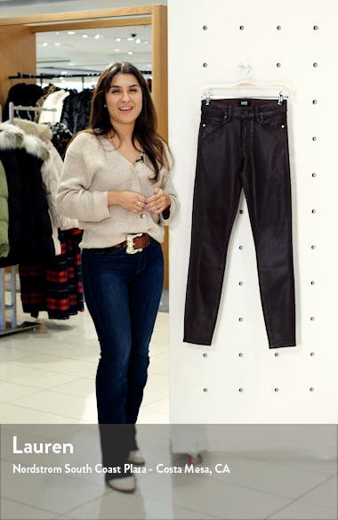 Transcend Hoxton High Waist Coated Ankle Skinny Jeans, sales video thumbnail