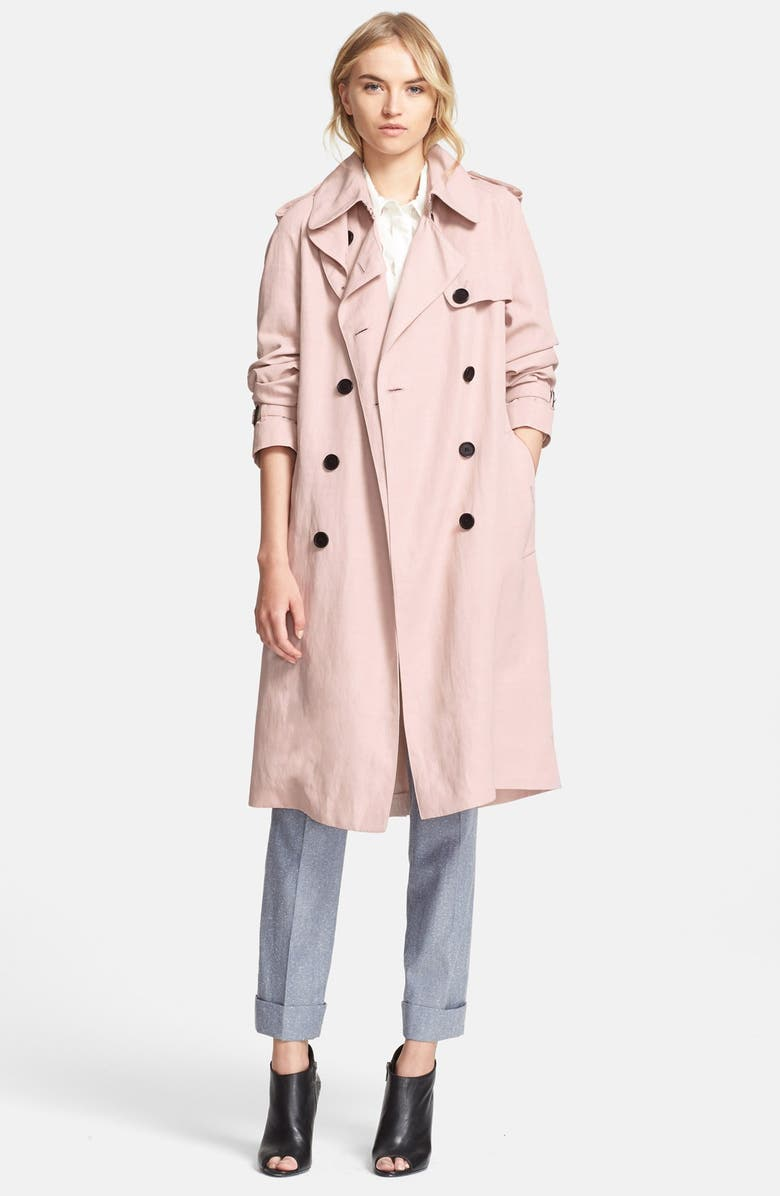 BURBERRY LONDON 'Terrington' Double Breasted Trench Coat, Main, color, 681