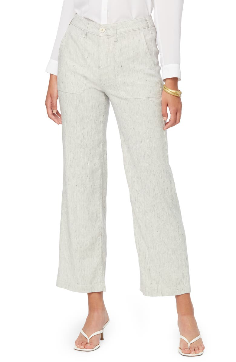NYDJ The Trouser Slub Stripe Linen Blend Pants, Main, color, SLUBBY STRIPE