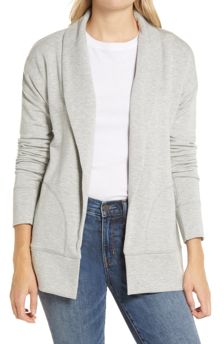 VINEYARD VINES Dreamcloth Cardigan, Main, color, LIGHT GRAY HEATHER
