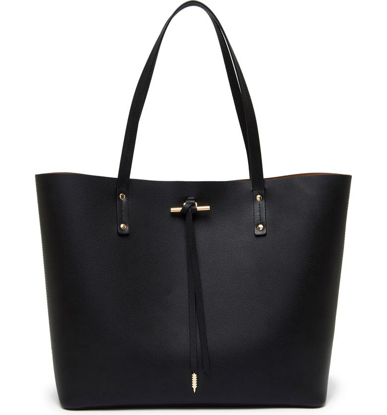 THACKER Fran Leather Tote, Main, color, 001