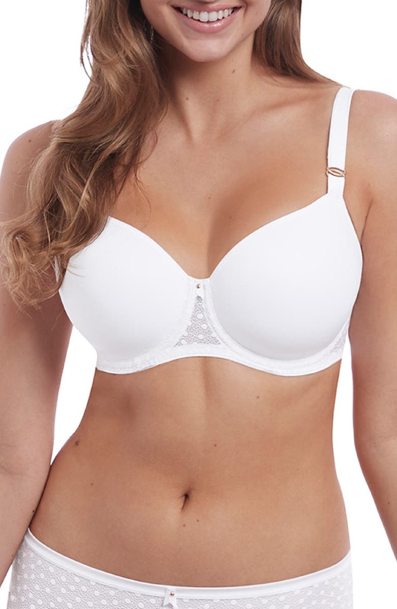 FREYA Starlight Idol Underwire Bra, Main, color, WHITE