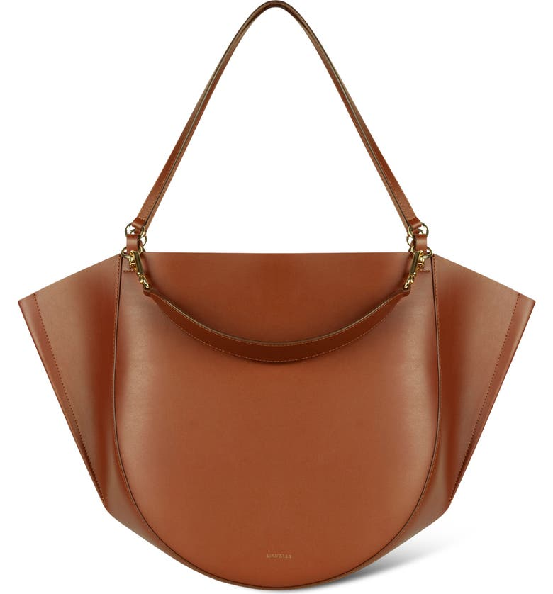 WANDLER Mia Leather Tote Bag, Main, color, TAN