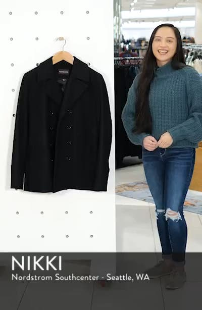 Wool Blend Double Breasted Peacoat, sales video thumbnail