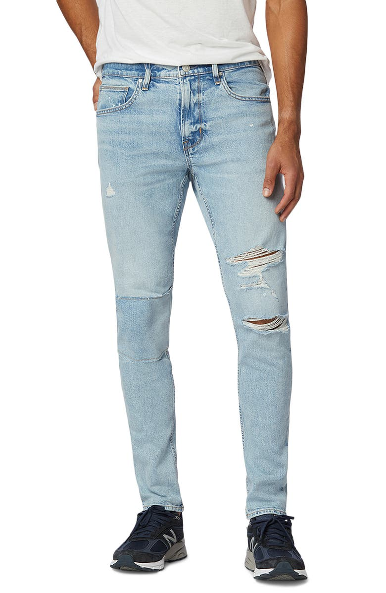 HUDSON JEANS Zack Ripped Skinny Fit Jeans, Main, color, LIGHT COASTAL