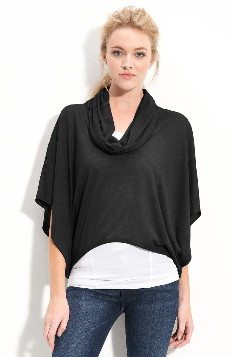 HINGE <sup>®</sup> Cowl Neck Cape Tee, Main, color, 001