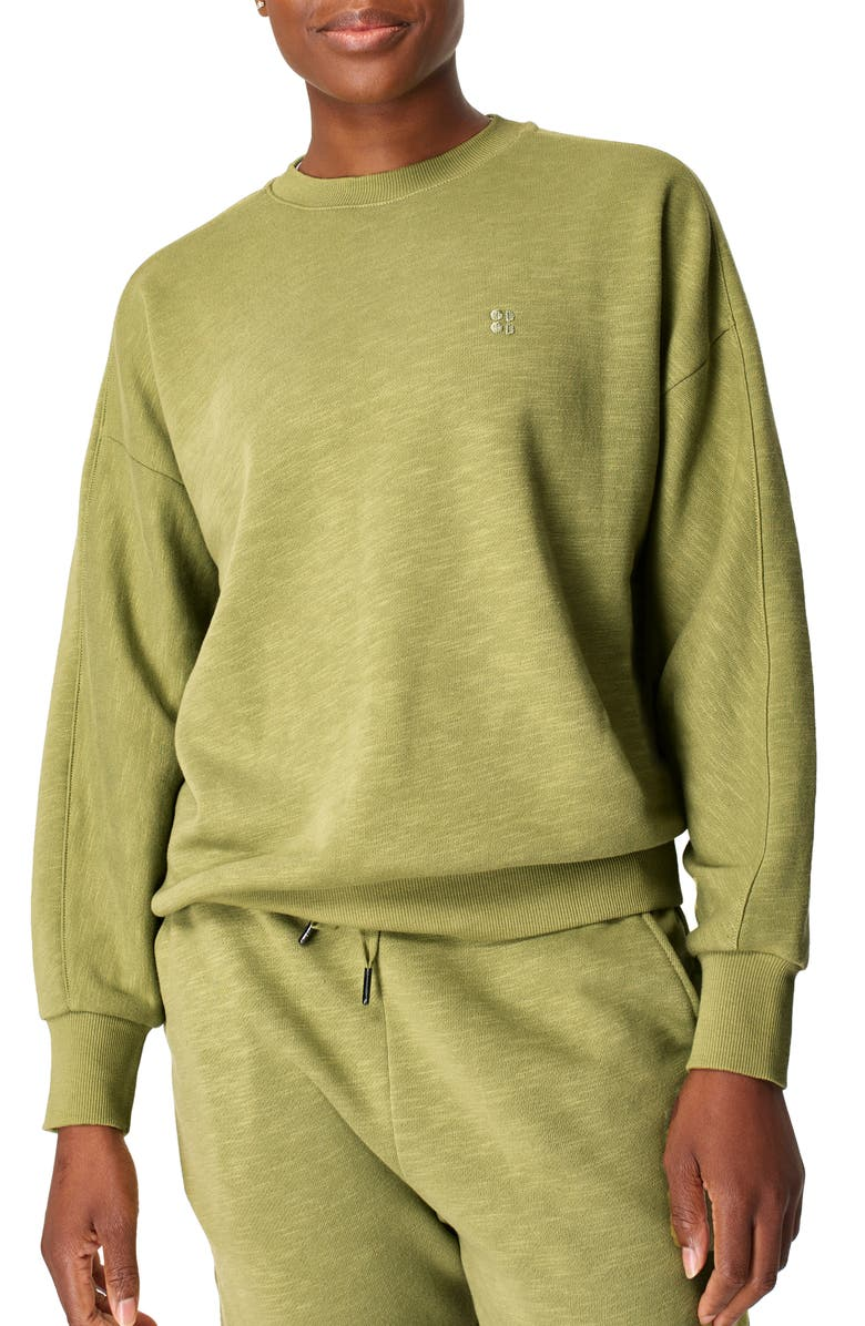 SWEATY BETTY Essentials Sweatshirt, Main, color, FERN GREEN