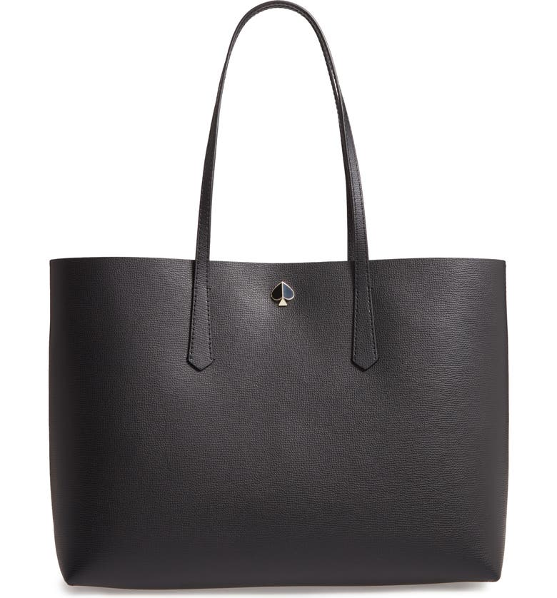 KATE SPADE NEW YORK large molly leather tote, Main, color, 001