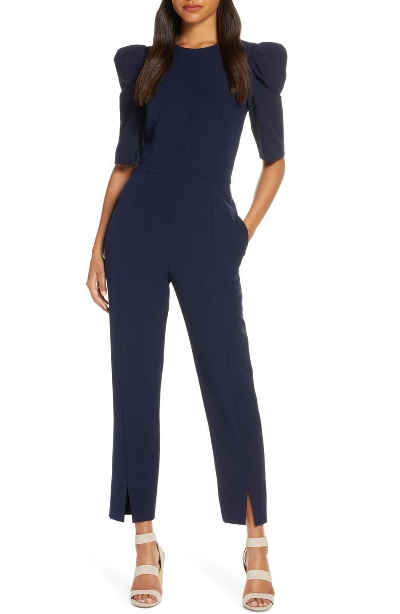 MAGGY LONDON Puff Sleeve Jumpsuit, Main, color, 410