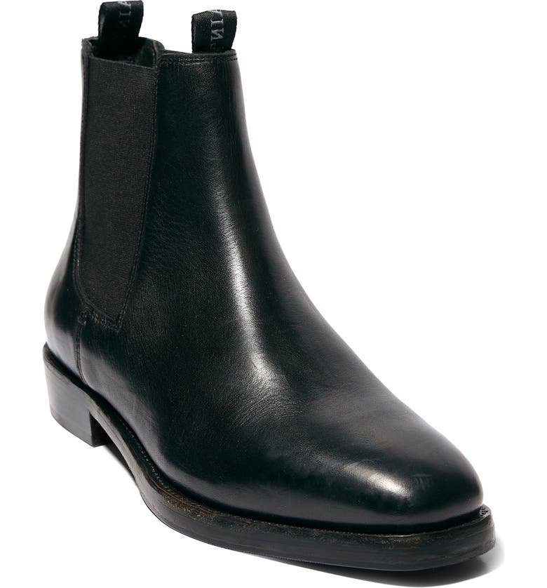 ALLSAINTS Eli Chelsea Boot, Main, color, BLACK LEATHER