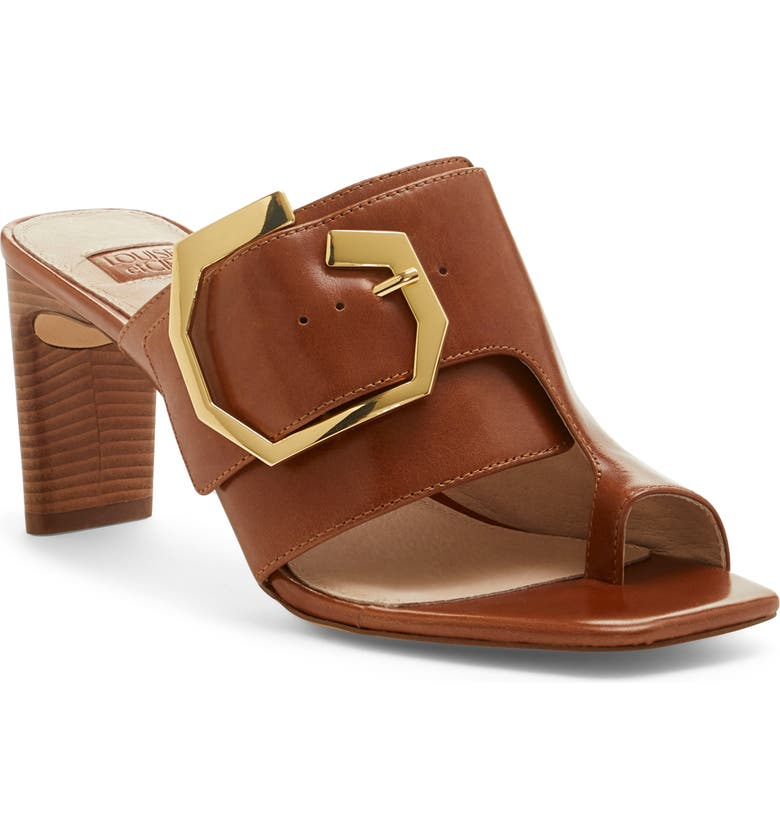 LOUISE ET CIE Linora Slide Sandal, Main, color, PEANUT BRITTLE LEATHER