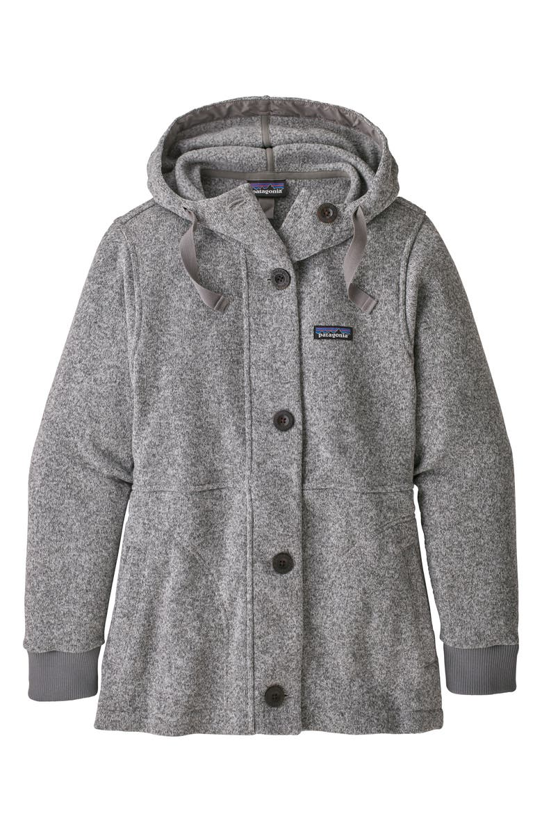 PATAGONIA Better Sweater<sup>®</sup> Recycled Fleece Hooded Coat, Main, color, 020