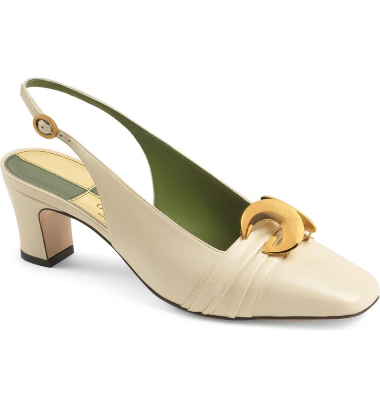 GUCCI Usagi Square Toe Slingback Pump, Main, color, 102
