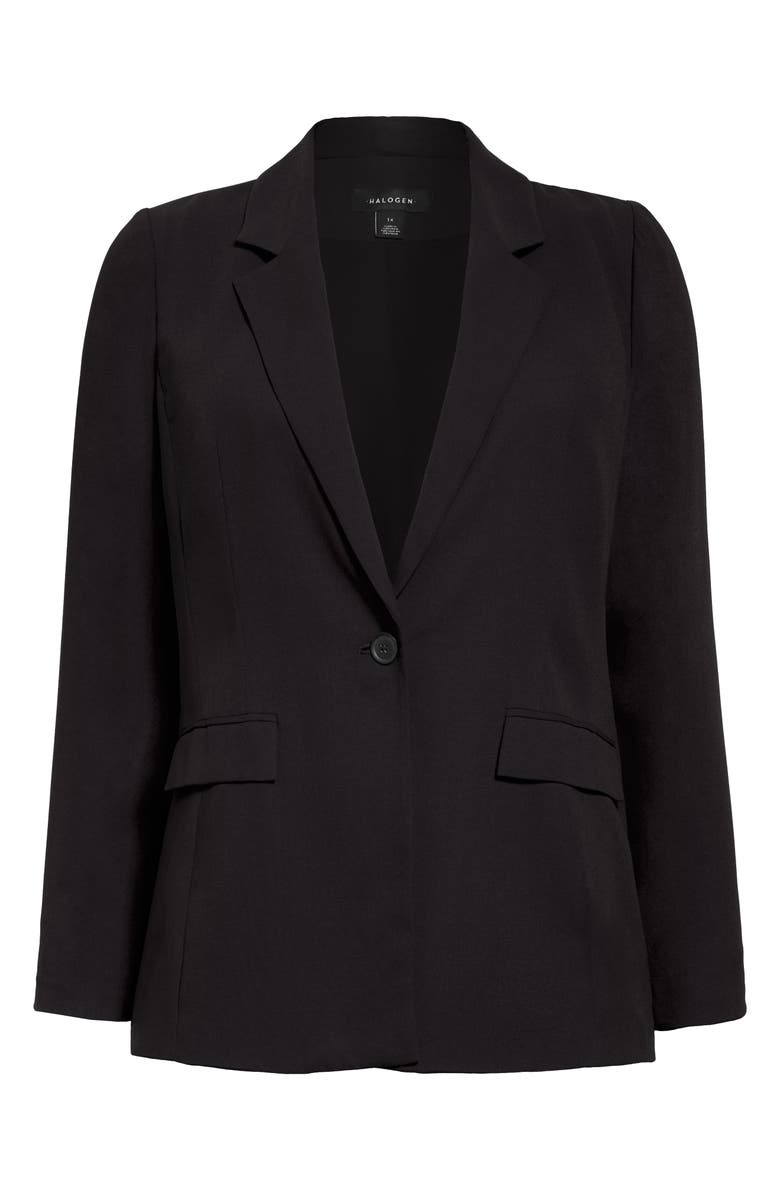 HALOGEN<SUP>®</SUP> Single Breasted Blazer, Main, color, 001