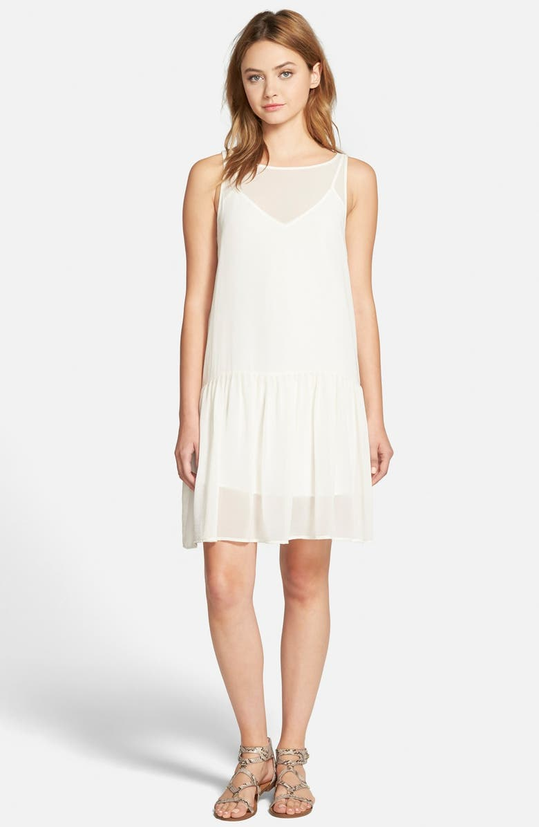 CUPCAKES AND CASHMERE 'Laurel' Sleeveless Chiffon Dress, Main, color, 900