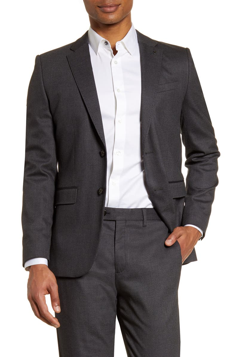 TED BAKER LONDON Beezly Textured Sport Coat, Main, color, 020