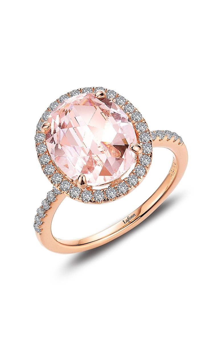 LAFONN Classic Halo Ring, Main, color, PINK / ROSE GOLD