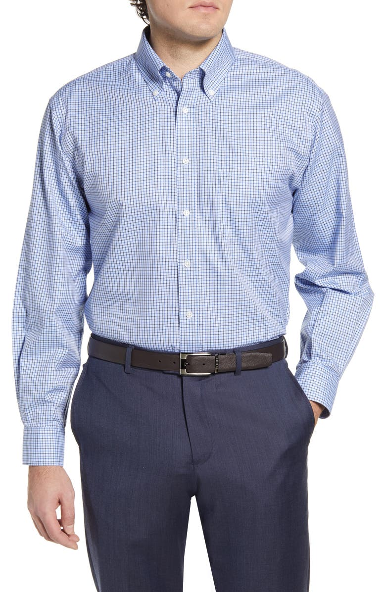 NORDSTROM Men's Shop Smartcare<sup>™</sup> Classic Fit Check Dress Shirt, Main, color, 401