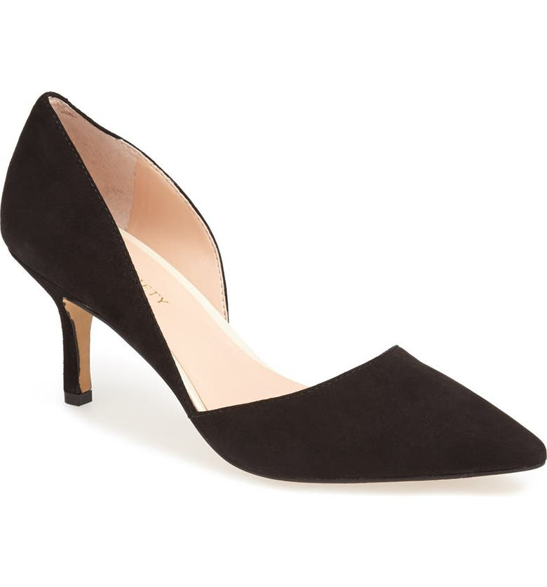 SOLE SOCIETY 'Jenn' Pointy Toe Pump, Main, color, 001