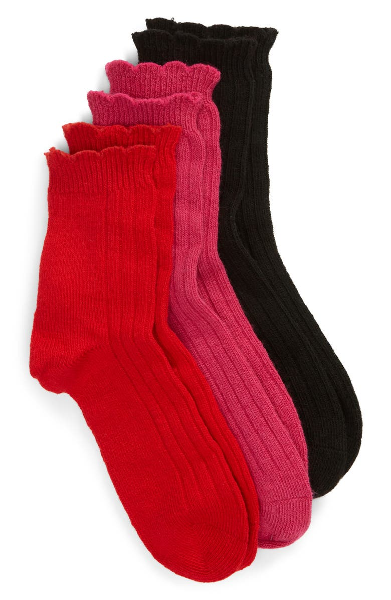 UGG<SUP>®</SUP> Assorted 3-Pack Crew Socks, Main, color, MULTI 2
