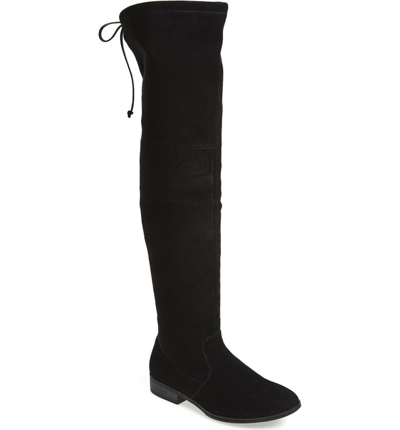 SOLE SOCIETY 'Valencia' Over the Knee Boot, Main, color, BLACK SUEDE