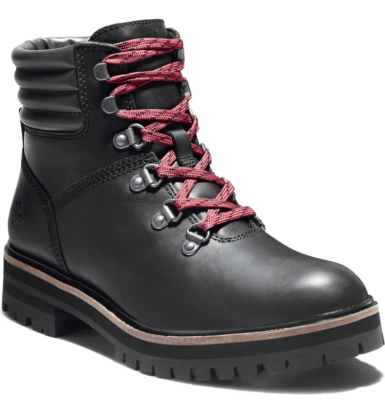 TIMBERLAND London Square Hiker Boot, Main, color, JET BLACK LEATHER