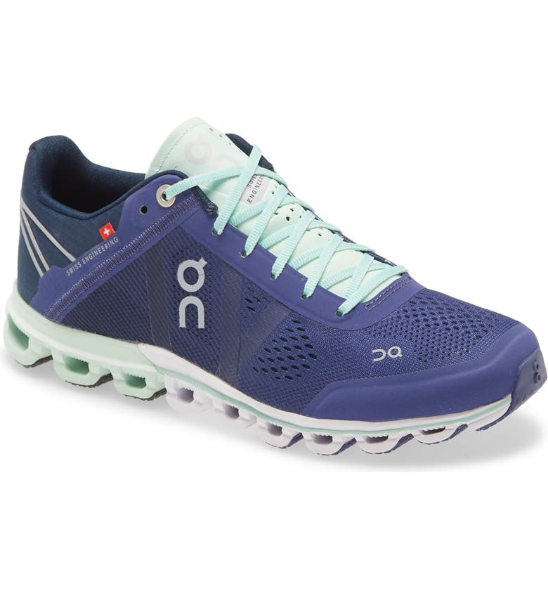 ON Cloudflow Running Shoe, Main, color, DAWN/ JADE