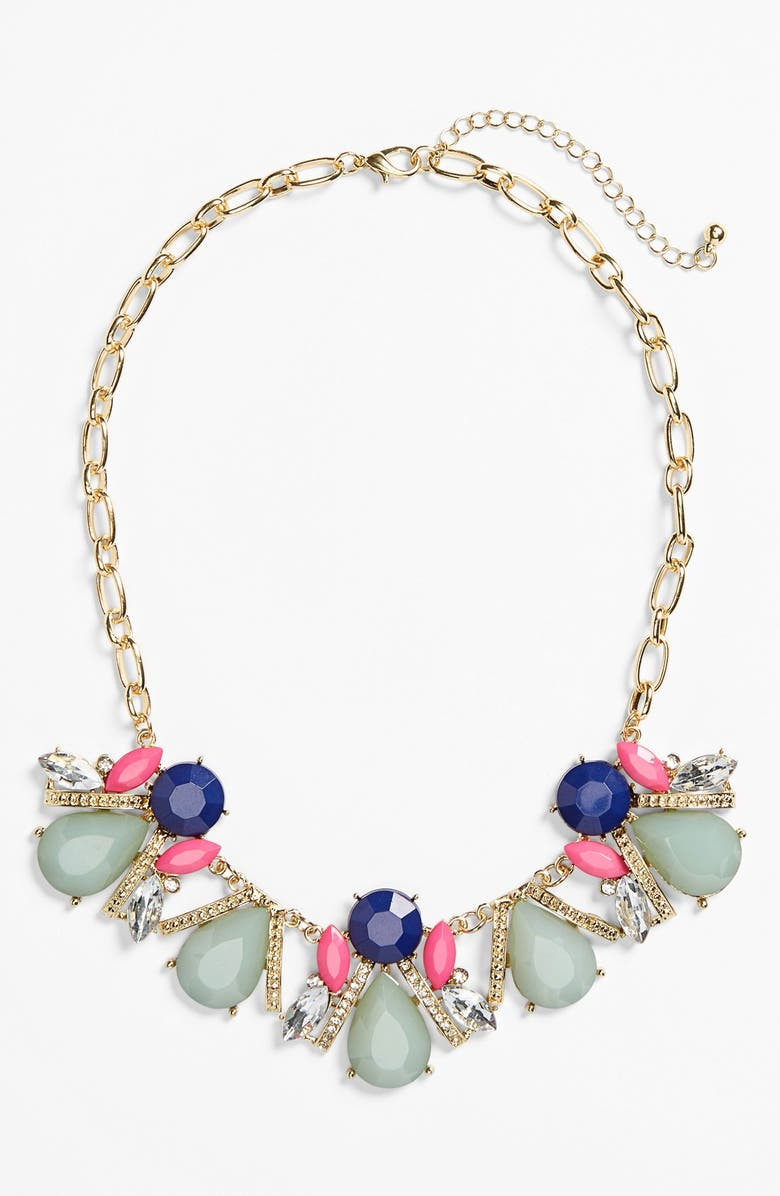BP. Stone Cluster Frontal Necklace, Main, color, 960