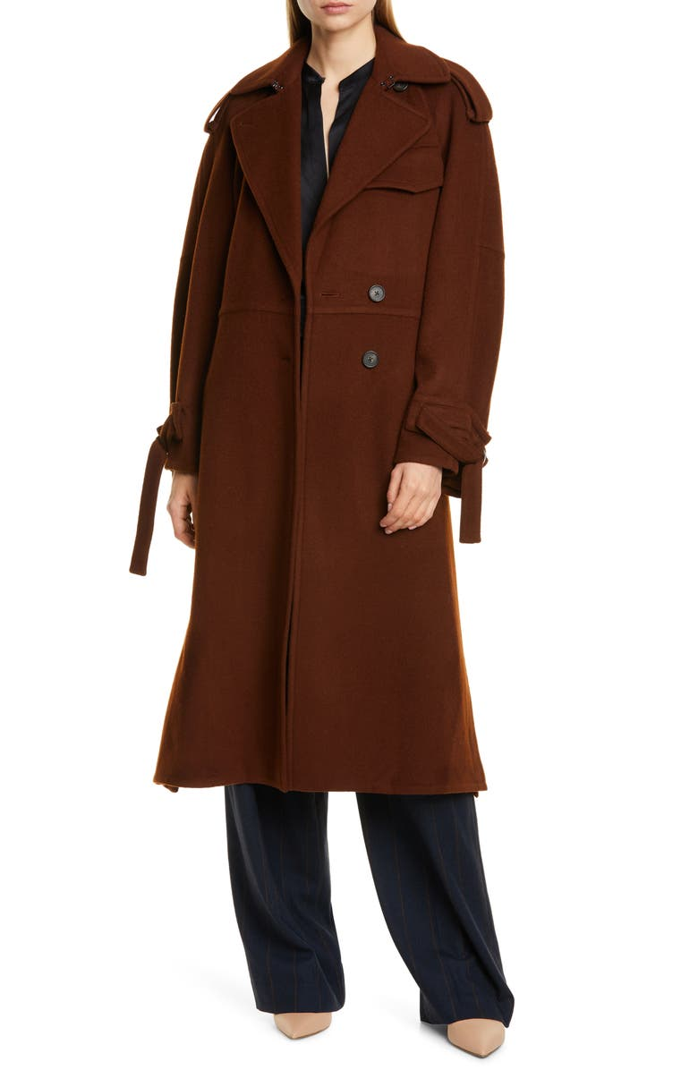 VINCE Belted Wool Blend Trench Coat, Main, color, 206