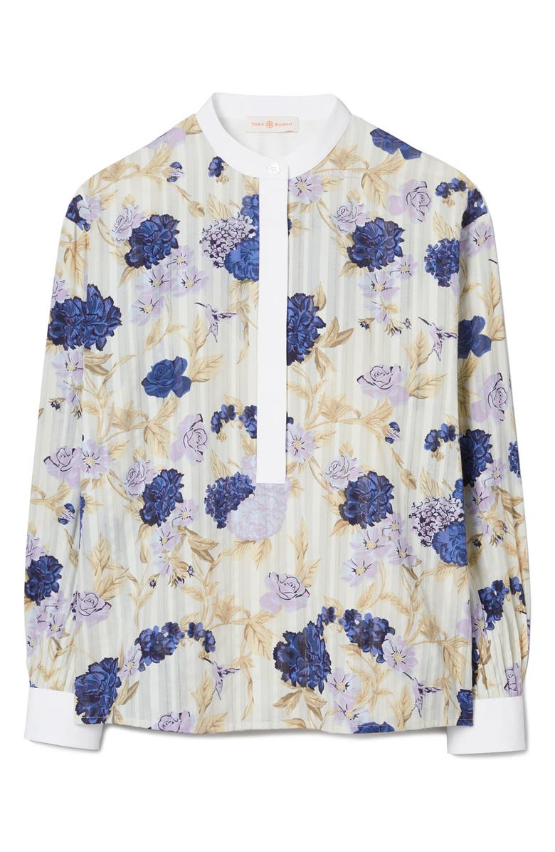 TORY BURCH Floral Tunic Top, Main, color, LAVENDER MIXED FLORAL