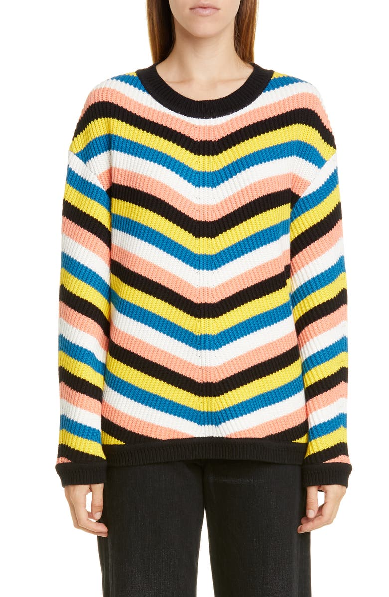 VICTOR GLEMAUD Stripe Cotton & Cashmere Sweater, Main, color, 800