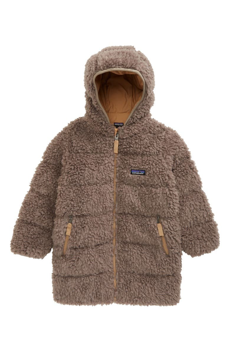 PATAGONIA Kids' Recycled Hi-Loft 700 Fill Power Down Parka, Main, color, FURRY TAUPE