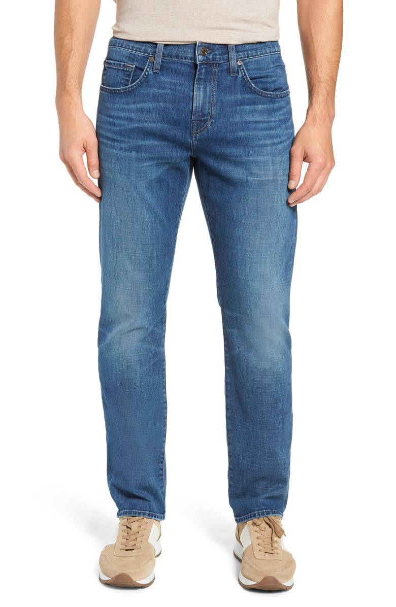 7 FOR ALL MANKIND Straight Slim Straight Leg Jeans, Main, color, LYNNWOOD