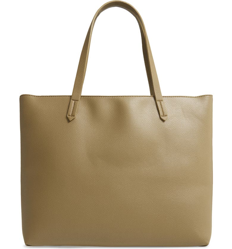 BP. Faux Leather Classic Tote, Main, color, 310