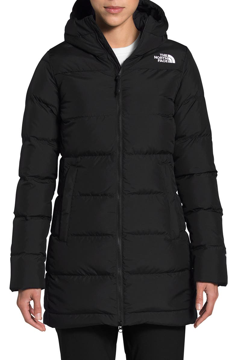 THE NORTH FACE Gotham 550 Fill Power Down Hooded Parka, Main, color, TNF BLACK