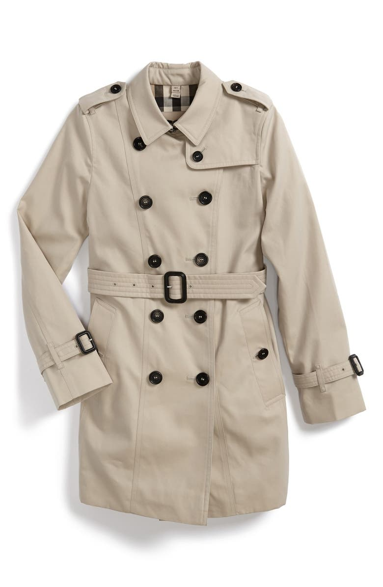 BURBERRY 'Sandringham' Double Breasted Trench Coat, Main, color, 250