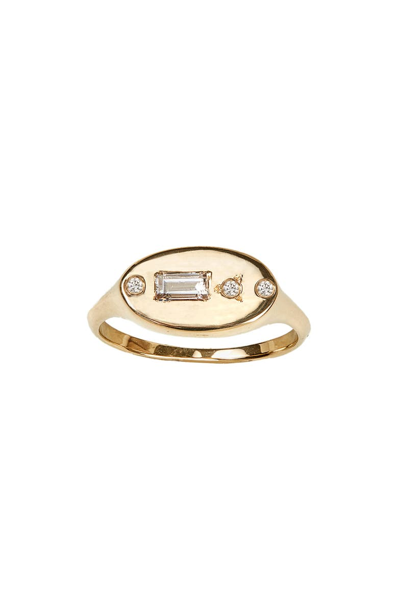 WWAKE Diamond Signet Ring, Main, color, 710