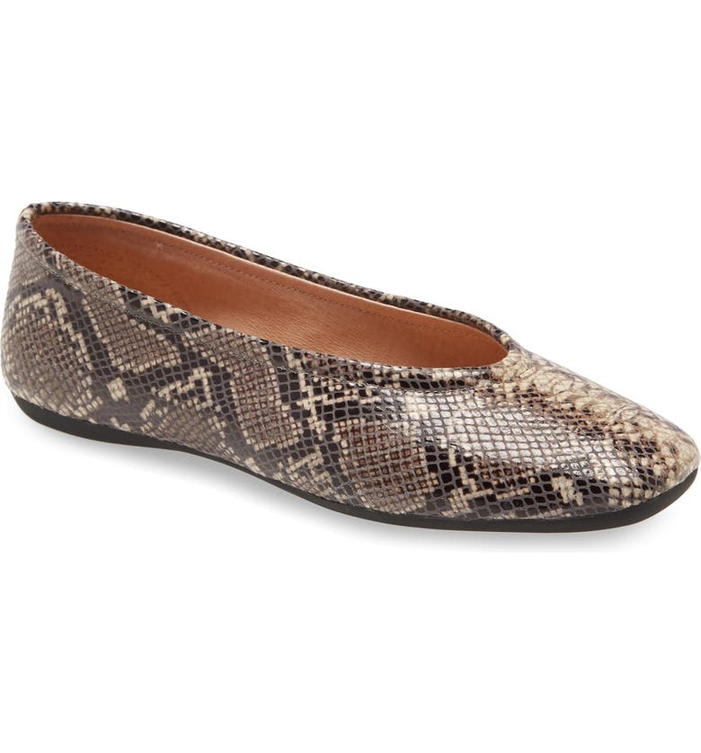 CC CORSO COMO<SUP>®</SUP> Trishina Ballet Flat, Main, color, PYTHON PRINT LEATHER