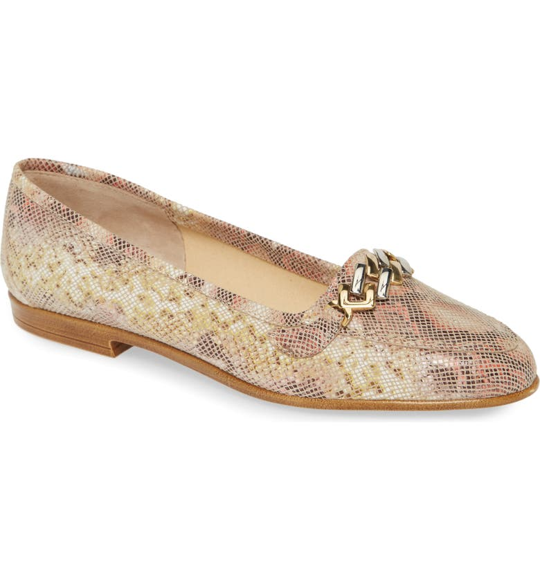 AMALFI BY RANGONI Oste Loafer, Main, color, BEIGE PEARL PRINT LEATHER