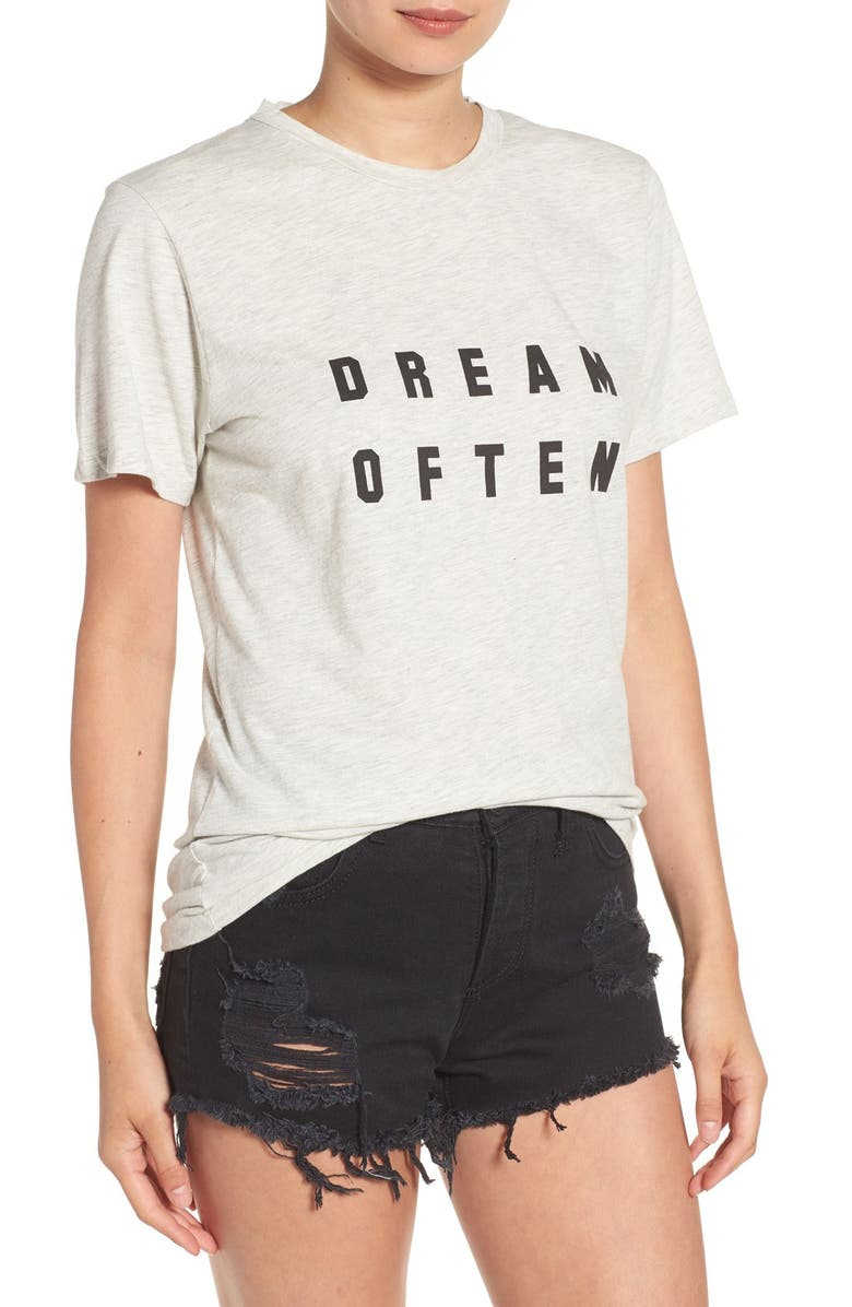 SINCERELY JULES 'Dream Often' Graphic Tee, Main, color, 020