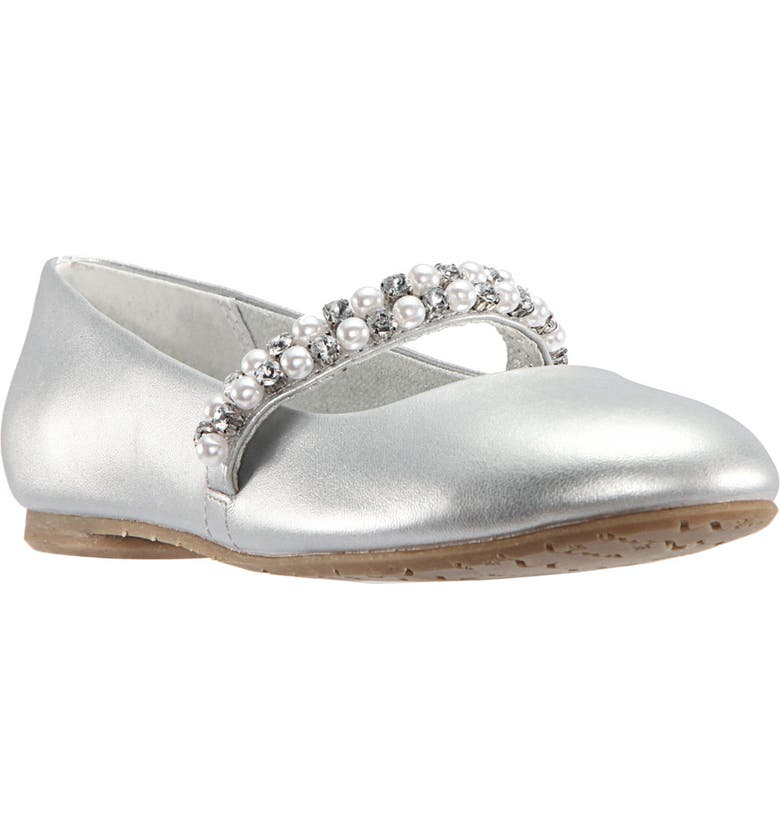 NINA 'Nataly' Slip-On, Main, color, SILVER