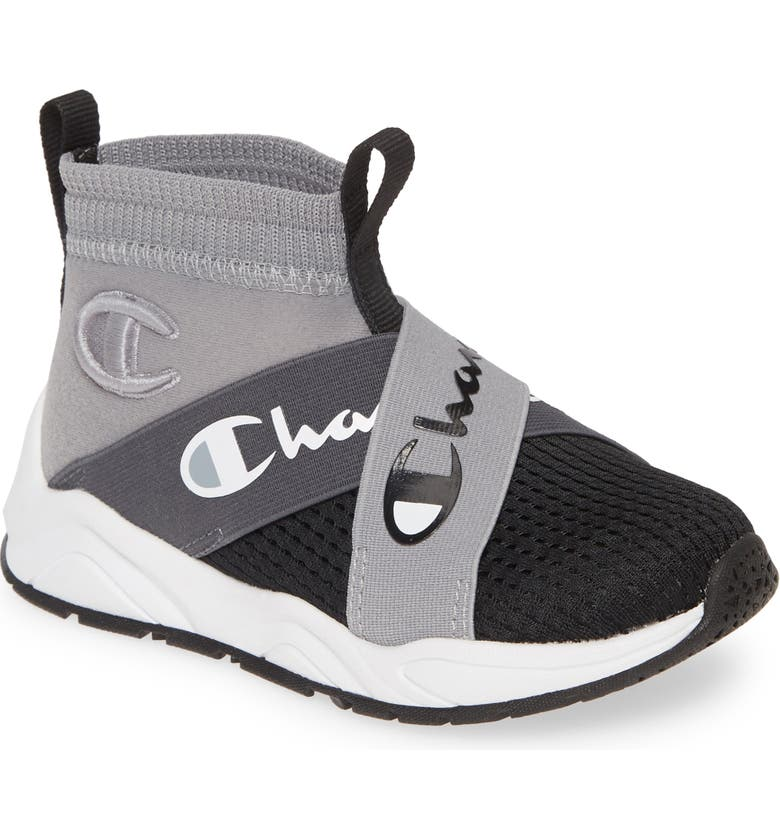 CHAMPION Rally Crossover High Top Sock Sneaker, Main, color, 020
