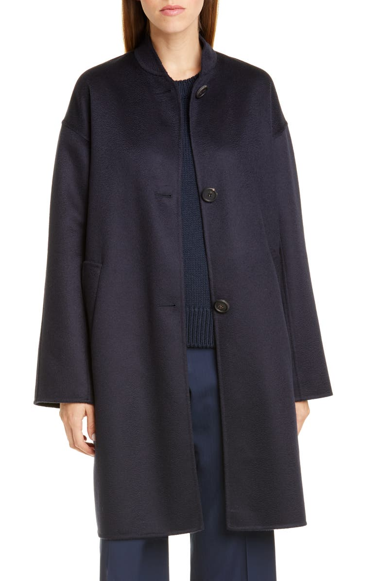 MANSUR GAVRIEL Stand Collar Double Face Cashmere Coat, Main, color, 400