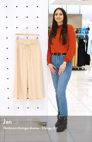 Textured Pull On Crop Pants, sales video thumbnail