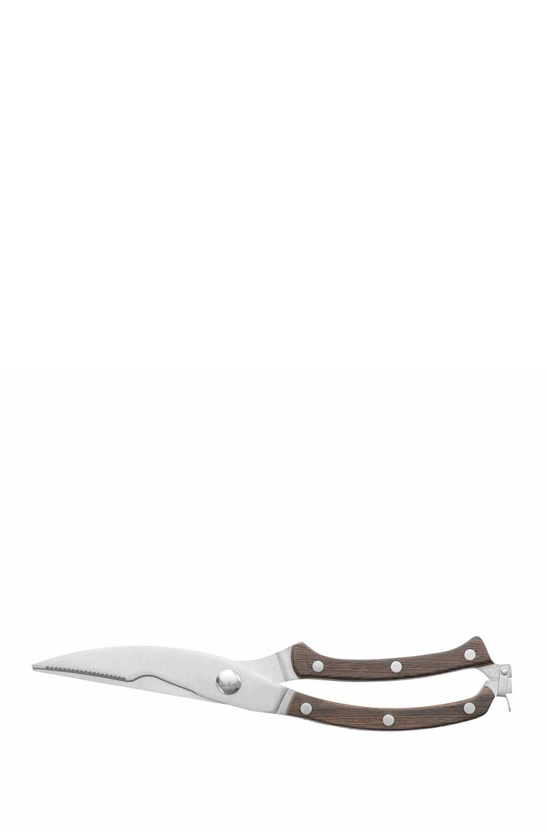 """BERGHOFF INTERNATIONAL Natural Essentials 8"""" Rosewood Poultry Shears, Main, color, NATURAL"""