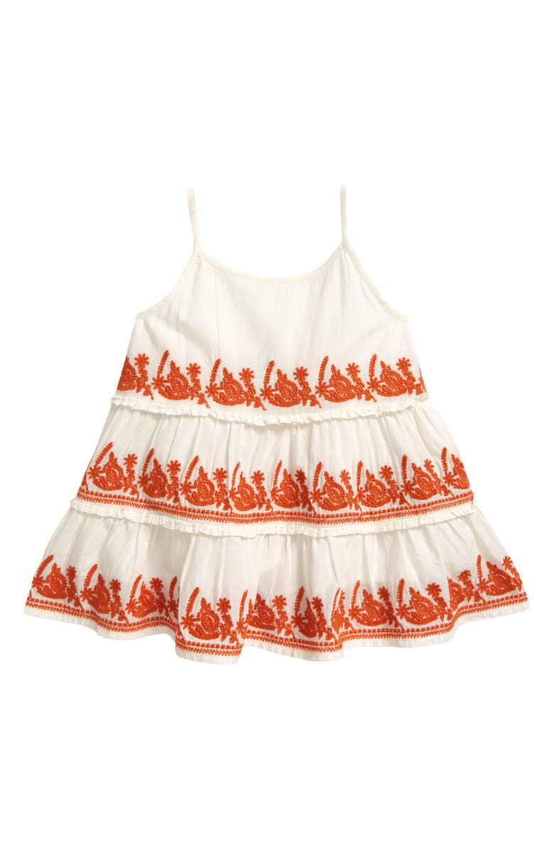 PEEK AREN'T YOU CURIOUS Kids' Embroidered Tank Top, Main, color, OFF-WHITE