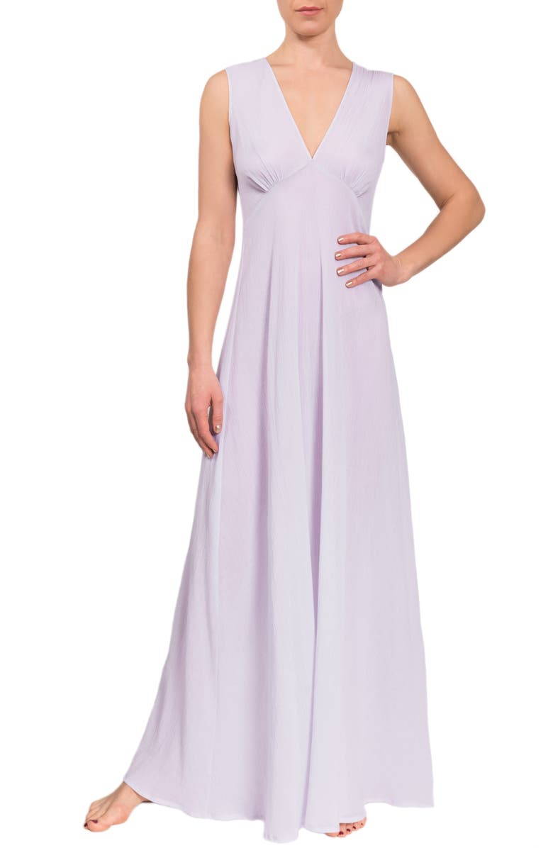 EVERYDAY RITUAL Amelia Long Nightgown, Main, color, LAVENDER