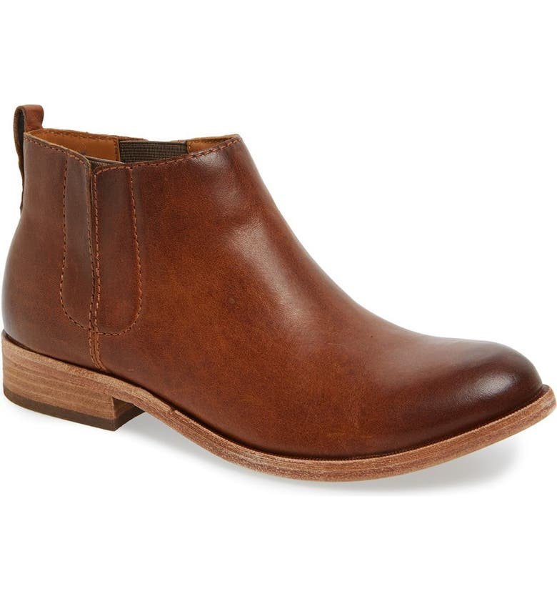 KORK-EASE<SUP>®</SUP> Velma Bootie, Main, color, BROWN LEATHER