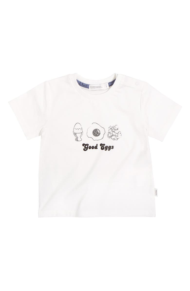 MILES baby Good Eggs Graphic Tee, Main, color, 110