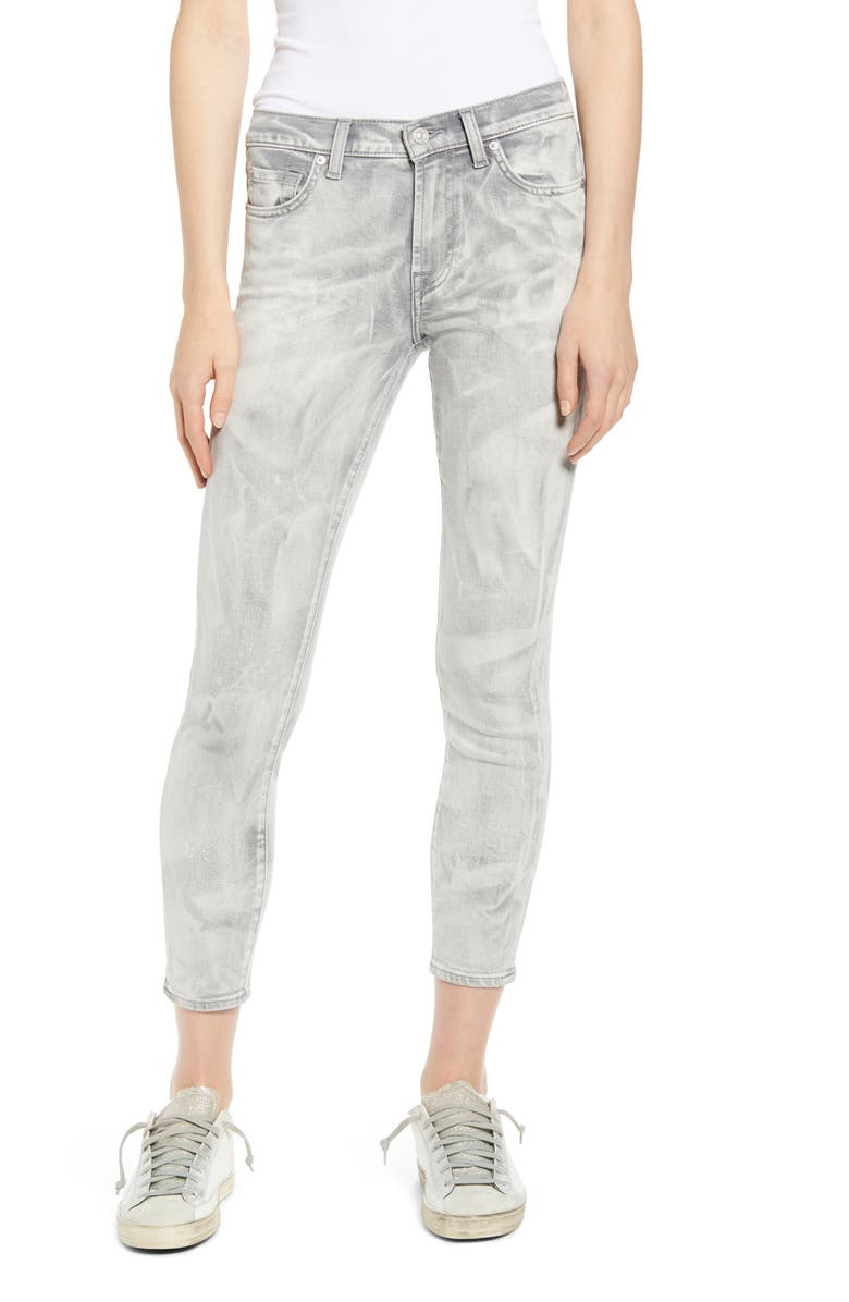7 FOR ALL MANKIND Ankle Crop Skinny Jeans, Main, color, FACTORY